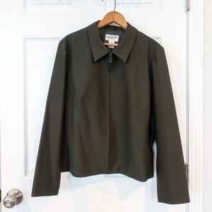 Pendleton Jacket Full Zip Olive Green Size 16